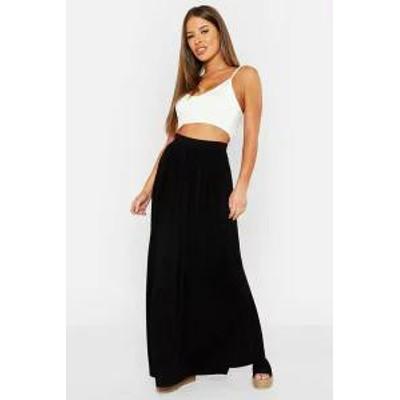 Boohoo レディーススカート Boohoo Petite Floor Sweeping Jersey Maxi Skirt black