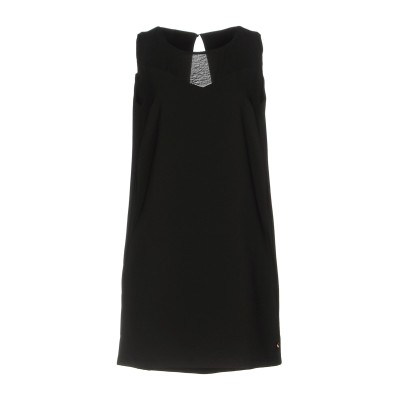 メット MET JEANS ミニワンピース&ドレス ブラック S 89% ポリエステル 11% ポリウレタン ミニワンピース&ドレス