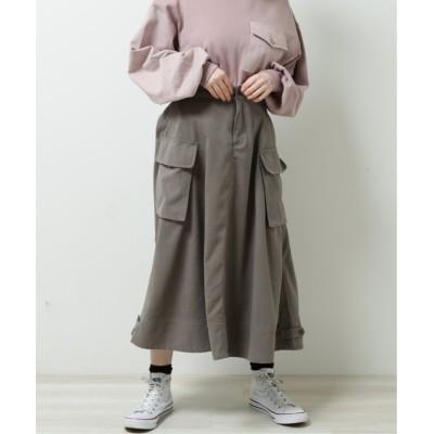 (DOUBLE NAME/ダブルネーム)ポケットワークフレアスカート/レディース スミクロ