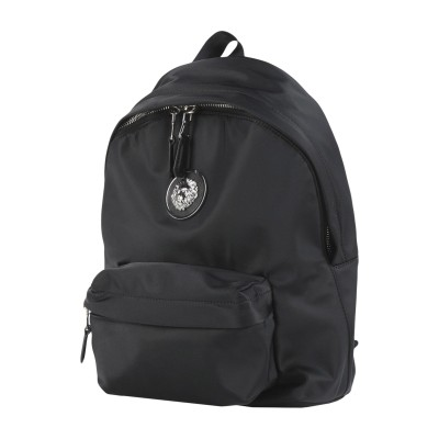 VERSUS VERSACE バックパック&ヒップバッグ ブラック ナイロン 80% / 革 20% バックパック&ヒップバッグ