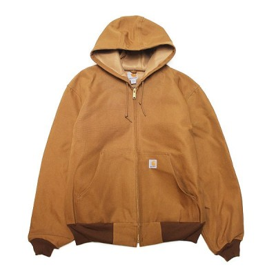 CARHARTT カーハート アウター J131 ダックジャケット THERMAL LINED DUCK ACTIVE JACKET メンズ ストリート ワーク 定番 MADE IN USA ロゴ ブラウン M L