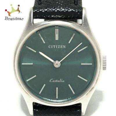 シチズン CITIZEN 腕時計 Castalia 4-631994 レディース ダークグリーン 新着 20210603
