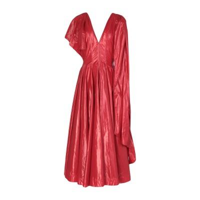 CALVIN KLEIN 205W39NYC ロングワンピース&ドレス レッド 40 ナイロン 100% ロングワンピース&ドレス