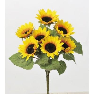 《 造花 》◆とりよせ品◆Asca(アスカ) サンフラワ-ブッシュX7 イエロ-