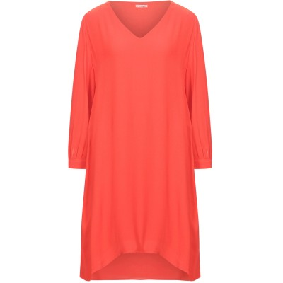 EMMA & GAIA ミニワンピース&ドレス オレンジ 40 レーヨン 100% ミニワンピース&ドレス
