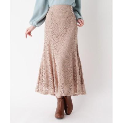 ITS' DEMO(イッツデモ) ベロアレースマーメイドスカート