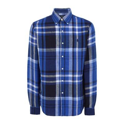 POLO RALPH LAUREN シャツ ブルー M リネン 100% シャツ