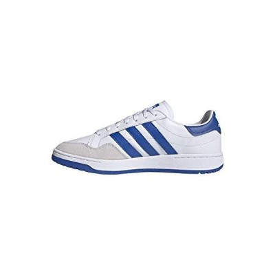 adidas Originals Men's Team Court Sneaker, White/Blue/Black, 5