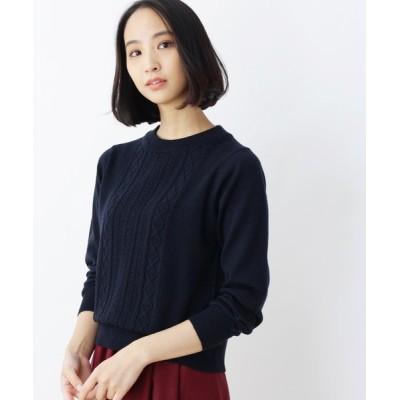SOUP / ウール混ケーブルニット WOMEN トップス > ニット/セーター