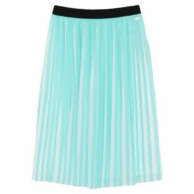 ARMANI EXCHANGE ひざ丈スカート ターコイズブルー 4 ポリエステル 100% ひざ丈スカート