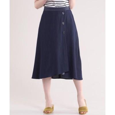 CLEAR IMPRESSION / クリアインプレッション サイドボタンダンガリースカート