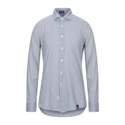 ドルモア DRUMOHR シャツ ダークブルー S コットン 100% シャツ