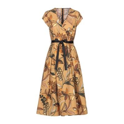 BIANCOGHIACCIO 7分丈ワンピース・ドレス キャメル 42 コットン 100% 7分丈ワンピース・ドレス