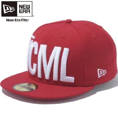 ニューエラ 5950キャップ ヴイシーエムエルビッグロゴ スカーレット スノーホワイト New Era 59FIFTY Cap VCML Big Logo Scarlet Snow White