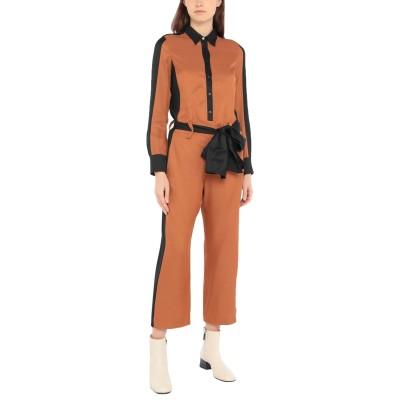 ジャストカヴァリ JUST CAVALLI ジャンプスーツ ブラウン 46 レーヨン 100% ジャンプスーツ