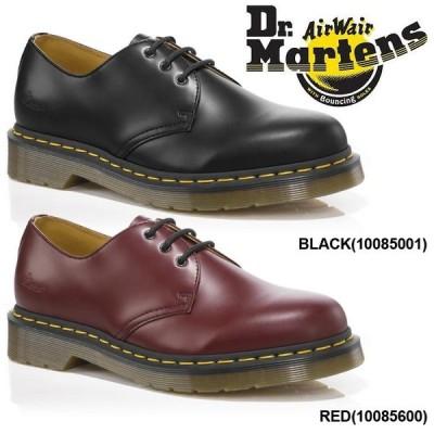 ドクターマーチン DR.MARTENS 3ホール 3アイレット ギブソンシューズ メンズ レディース シューズ レディースサイズ 黒 ブラック 赤 レッド