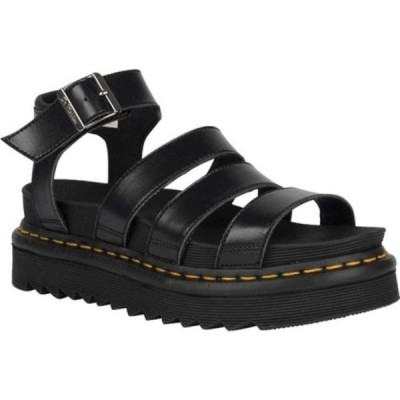 ドクターマーチン スニーカー シューズ レディース Vegan Blaire Strappy Sandal (Women's) Black Felix Rub Off/Soft Polyurethane