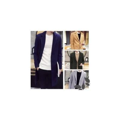 メンズ チェスターコート トレンチコート メンズ シングル ロングコート メンズアウター 新作 暖か 秋 冬