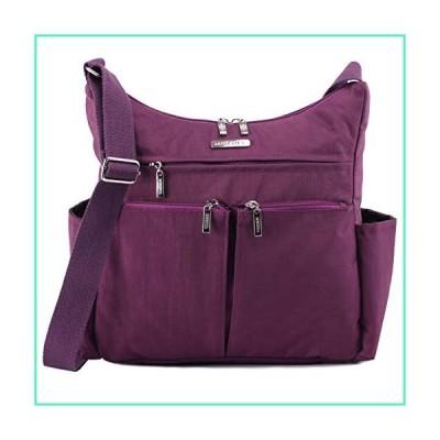 MHCNLL Anti Theft Crossbody Purse,RFID Women Nylon Waterproof Shoulder Bag (purple)並行輸入品