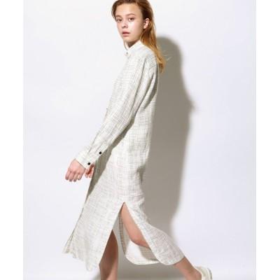【エコアルフ】 BULWER プリント ドレス /  BULWER PRINT DRESS レディース ライト グレー S ECOALF