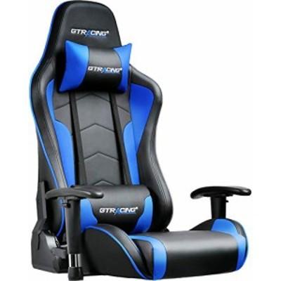 【送料無料】GTRACING ゲーミングチェア 座椅子 180度リクライニング ハイバック 可動肘 ヘッドレスト クッション付き 一年無償部品交換