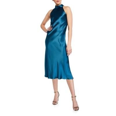 ガルバン レディース ワンピース トップス Sienna Sleeveless Satin Turtleneck Bow-Back Dress