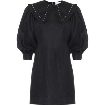 ガニー Ganni レディース ワンピース ワンピース・ドレス Studded Linen Minidress Phantom