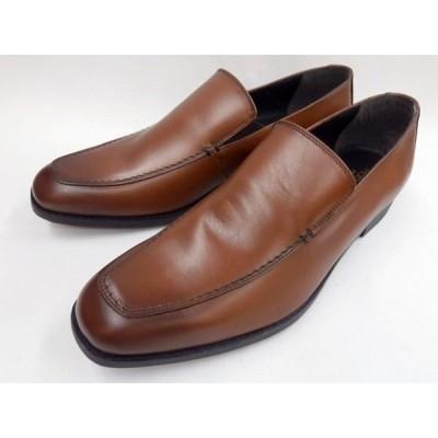 Robe pleine(ロベプラン) セメンテッド式 本革ビジネスシューズ スリッポン RP-3102(ブラウン) メンズ 靴