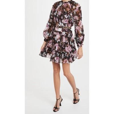 ジマーマン Zimmermann レディース ワンピース ティアードドレス ワンピース・ドレス Charm Tiered Mini Dress Black Floral