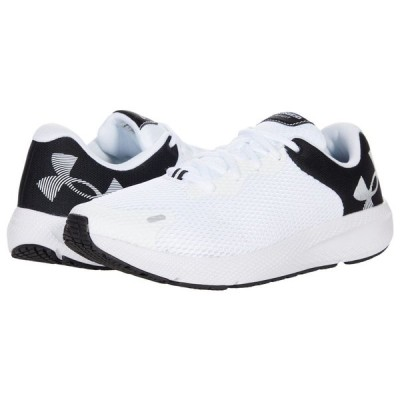 アンダーアーマー Under Armour メンズ ランニング・ウォーキング シューズ・靴 Charged Pursuit 2 Big Logo White/Black