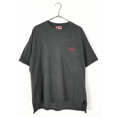 古着 90s Marlboro マルボロ ワンポイント ボーダー ポケット Tシャツ ポケT XL位 古着