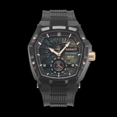 腕時計 レナート Renato Master Horologe メンズ Mostro MKII ブラック ウイズ ローズ ゴールド アクセントs 腕時計