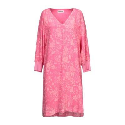 エッセンシャル・アントワープ ESSENTIEL ANTWERP ミニワンピース&ドレス フューシャ 36 シルク 100% / レーヨン / ポリ