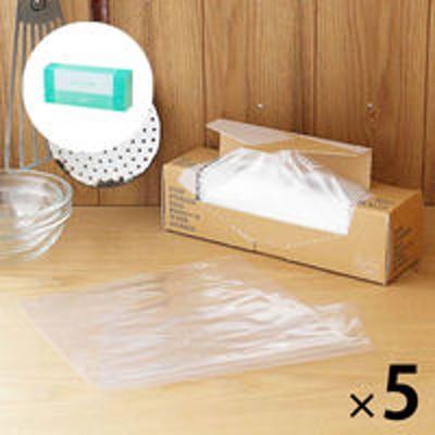 アスクル【数量限定 お買い得セット】ポリ袋 食品保存袋M 透明 1箱(160枚入)×5セット+フリーザーバッグ M 1箱(50枚入)ロハコ