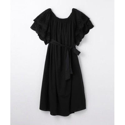 TOMORROWLAND/トゥモローランド MERLETTE コットンスカラップスリーブドレス 19 ブラック XS