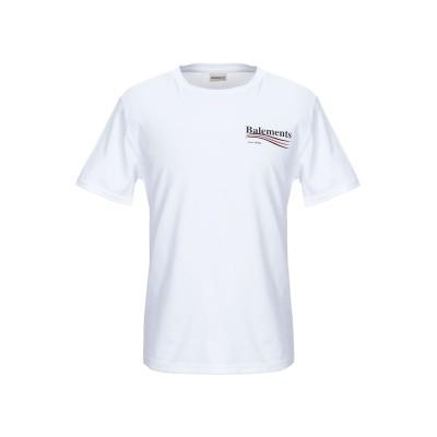 BALEMENTS T シャツ ホワイト L コットン 100% T シャツ