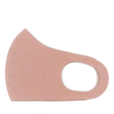 1枚 肌色 サーモンピンク調 あったか フリース 洗える 布 マスク 縦12.5cm 薄さ 1.2mm 秋 冬 かわいい おしゃれ 立体 なめらか 耳痛くない