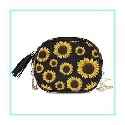 【新品】ALAZA PU Leather Small Crossbody Bag Purse Wallet Vintage Sunflower Floral Cell Phone Bags with Adjustable Chain Strap & Multi Pocket(