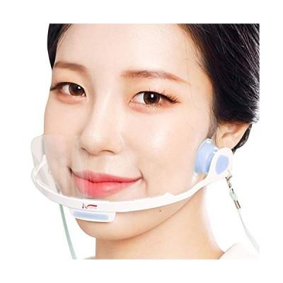 NOEAR 透明マスク (ショートタイプ) 男女兼用 簡単着用 くもらないフェイスシールド [ フリーサイズ ] (衛生マス