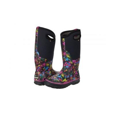 Bogs ボグス レディース 女性用 シューズ 靴 ブーツ レインブーツ Classic Tall Wild Flower - Black Multi