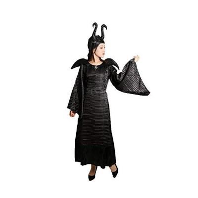 MAKE CHEERFUL 眠れる森の美女 マレフィセント コスプレ 衣装 3点セット (XL)
