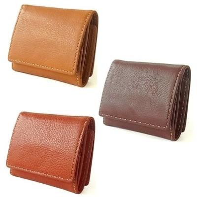 三つ折り財布 コンパクト 手のひら財布 ベジタブルレザー 牛革 メンズ レディース ユニセックス TB-379