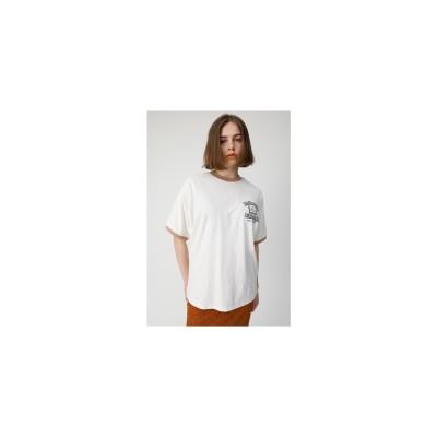 moussy STUDYRINGERTシャツ オフホワイト