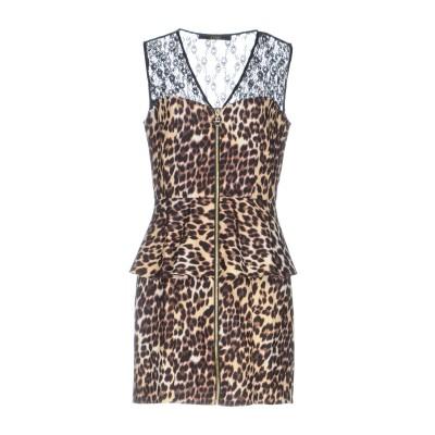 ゲス GUESS ミニワンピース&ドレス ブラウン XS ポリエステル 90% / ポリウレタン 10% / ナイロン ミニワンピース&ドレス