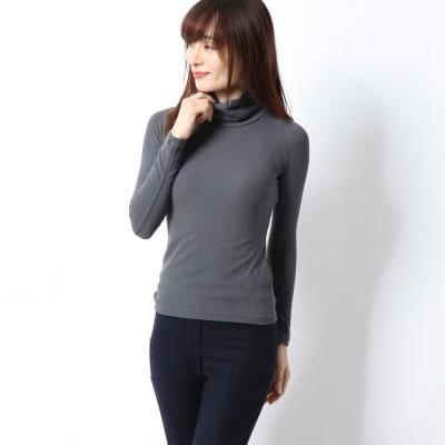 リネーム Rename ダブルハイネックTシャツ (グレー)