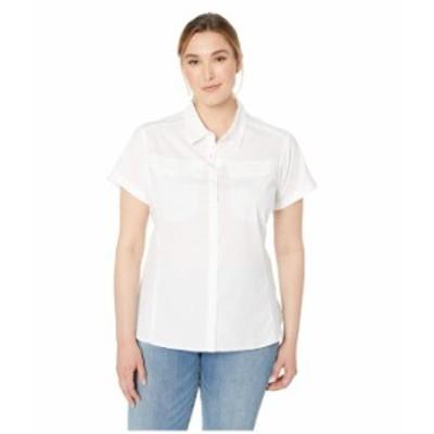 コロンビア レディース シャツ トップス Plus Size Silver Ridge¢ Lite Short Sleeve Shirt White