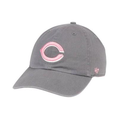 47ブランド レディース 帽子 アクセサリー Cincinnati Reds Dark Gray Pink CLEAN UP Cap