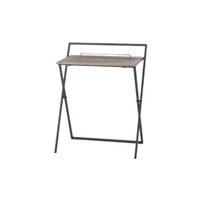 折りたたみ デスク ブラック 黒 幅64 奥行45 高さ79 木製 スチール おしゃれ レトロ 北欧 シンプル テーブル パソコンデスク 完成品