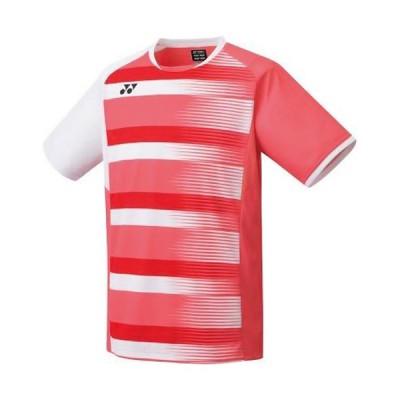 ヨネックス(YONEX) メンズ テニスウェア ゲームシャツ フィットスタイル コーラルレッド 10394 475 半袖 トップス 部活 クラブ 練習 試合