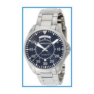 (輸入品)Hamilton Men's 'Khaki Aviation' Swiss Automatic Stainless Steel Dress Watch, Color:Silver-Toned (Model: H64615135)